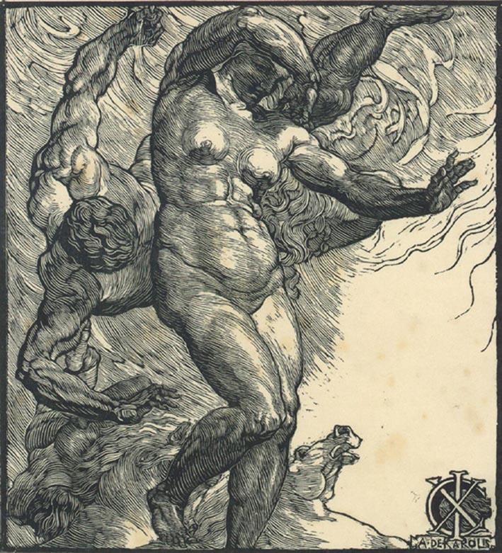 Adolfo De Carolis, L'Eroica, 1913, camaieu a 2 legni