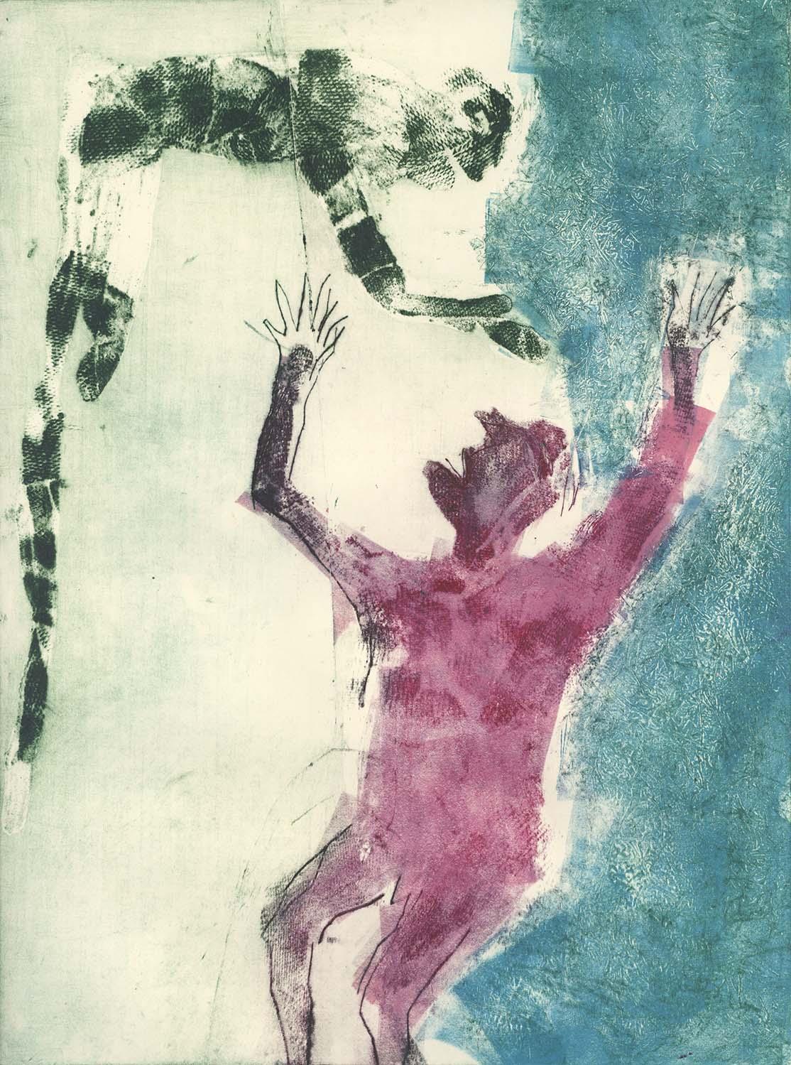 Paco Mateos, Senza Titolo, 2013, solvente, rullate su plexiglas